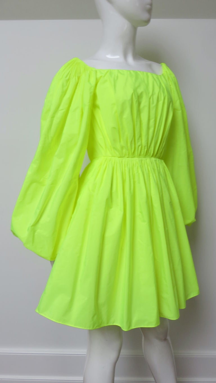 Valentino New Neon Dress For Sale 4