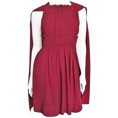 Valentino New Silk Dress with Cape
