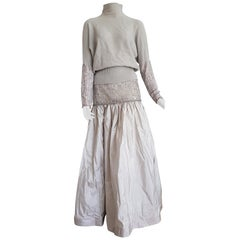 "VALENTINO ""New"" Top Sweater Skirt Swarovsky Beads Cashmere Silk Dress - Unworn"