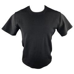 VALENTINO NOIR Black Solid Viscose Blend Size XS Crew-Neck Pullover