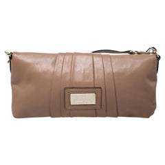 Valentino Nude Leather Bow Flap Clutch
