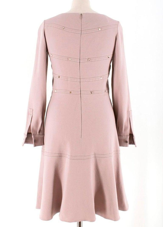 Beige Valentino Nude Rockstud A-Line Dress US 6 For Sale