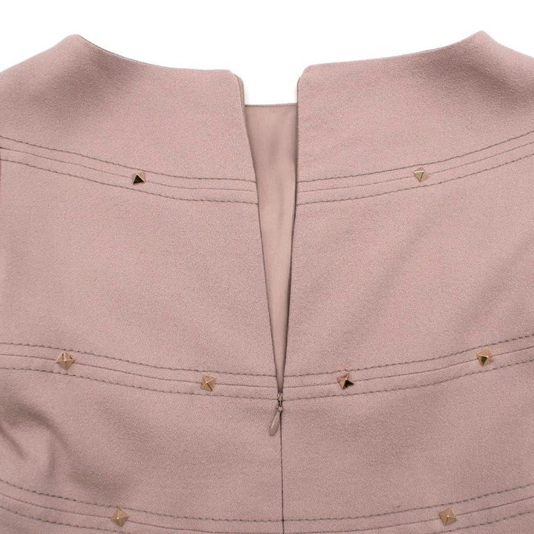 Valentino Nude Rockstud A-Line Dress US 6 In Excellent Condition For Sale In London, GB