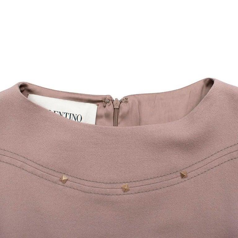 Women's Valentino Nude Rockstud A-Line Dress US 6 For Sale