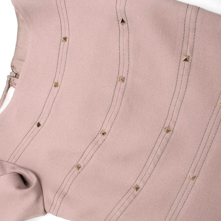 Valentino Nude Rockstud A-Line Dress US 6 For Sale 1
