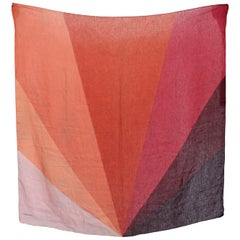 Valentino Orange Pink Silk Linen Scarf