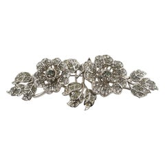 Valentino Oversized Jeweled Floral Pin Brooch