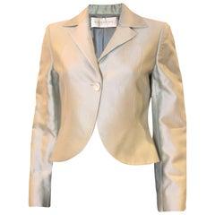 Valentino Pale Green Silk Cotton Jacket