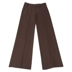 Valentino Pant Subtle Side Stitch Detail Brown 8 New