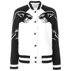 Valentino Panther-Intarsia Wool Bomber Jacket