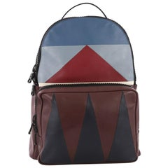 Valentino Patchwork Backpack Leather Large