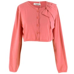 Valentino Pink Cropped Cardigan  UK 16