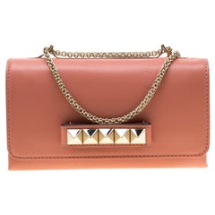 Valentino Pink Leather Va Va Voom Chain Shoulder Bag