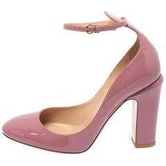 Valentino Pink Patent Leather Tango Pumps Size 38.5