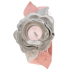 Valentino Pink Stainless Steel Flower Women's Wristwatch 44MM