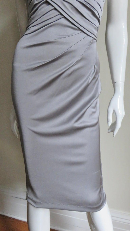 Valentino Silk Jersey Bodycon Dress For Sale 1