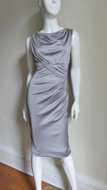 Valentino Silk Jersey Bodycon Dress For Sale 2