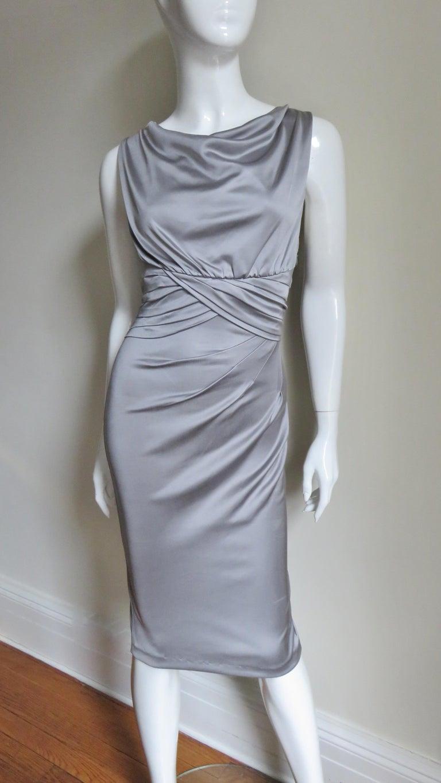 Valentino Silk Jersey Bodycon Dress For Sale 3