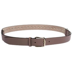 Valentino Poudre Leather Rockstud Belt 85CM