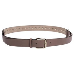 Valentino Poudre Leather Rockstud Belt 90CM