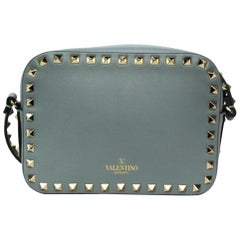 Valentino Powder Blue Smooth Leather Rockstud Bag