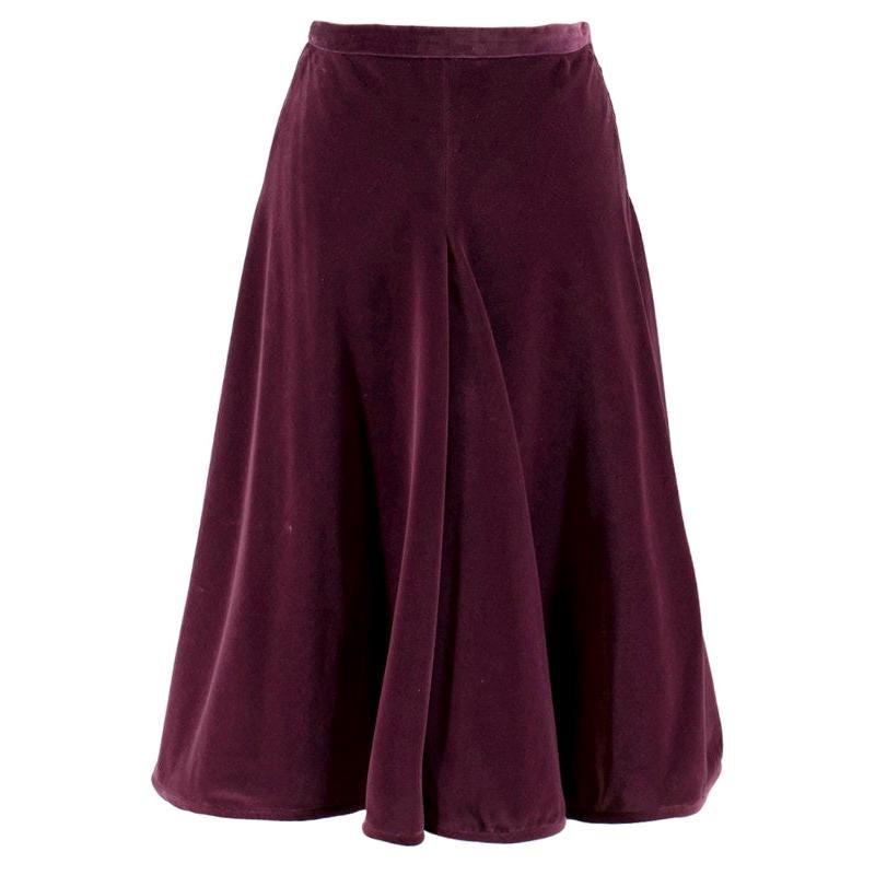 Valentino Purple Velvet A-Line Skirt - Size XS