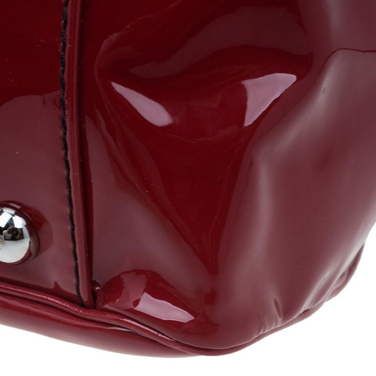 Valentino Red Patent Histoire Framed Bag For Sale 9