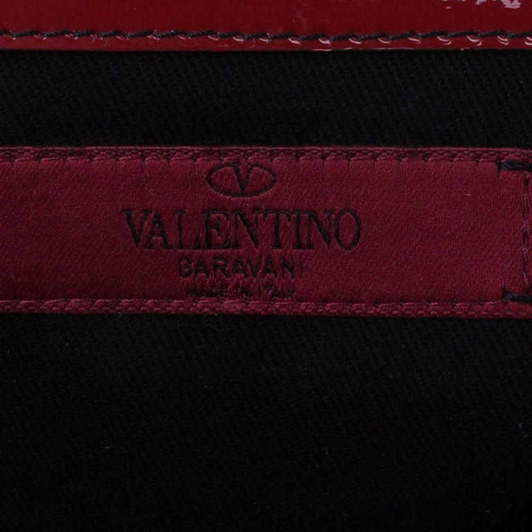 Valentino Red Patent Histoire Framed Bag For Sale 11