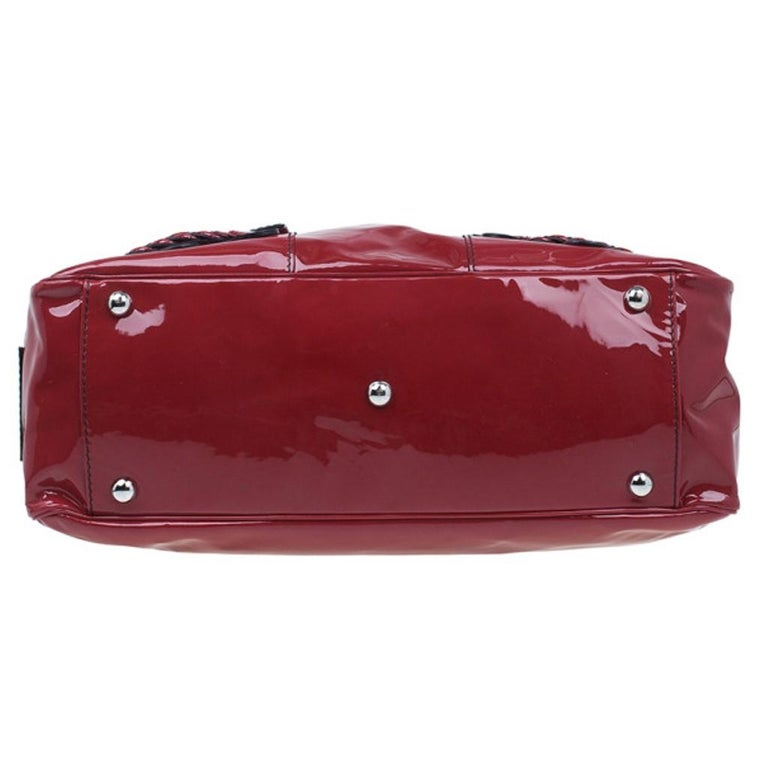Women's Valentino Red Patent Histoire Framed Bag For Sale