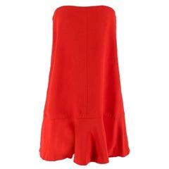 Valentino Red Strapless Silk Dress IT 44