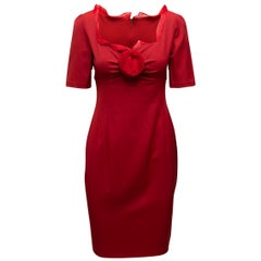 Valentino Red Winter 2008 Silk Fitted Dress