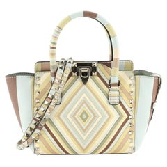 Valentino Rockstud 1975 Tote Striped Leather Mini