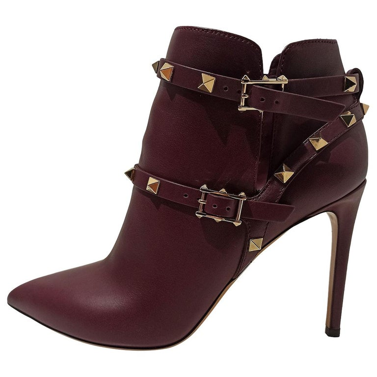 """Valentino """"Rockstud"""" Ankle Boots IT38 For Sale"""