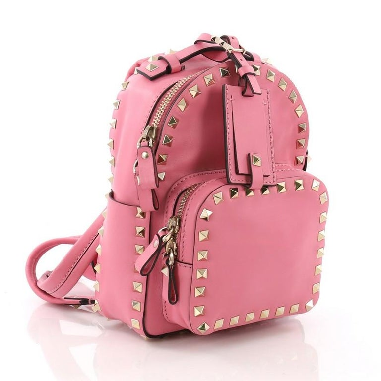 cd2f598776 Pink Valentino Rockstud Backpack Leather Mini For Sale