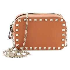 Valentino Rockstud Chain Camera Crossbody Bag Leather Small