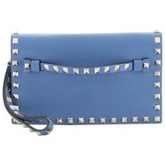 Valentino Rockstud Flap Clutch Leather Small