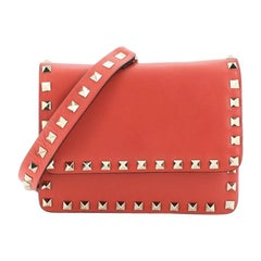 Valentino Rockstud Flap Crossbody Bag Leather Small