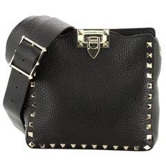Valentino Rockstud Flip Lock Messenger Bag Leather Mini