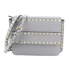 Valentino  Rockstud Front Handle Flap Bag Leather Small