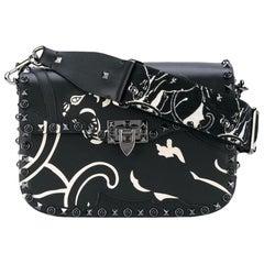 Valentino Rockstud Panther Embroidered Shoulder Bag