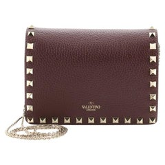 Valentino Rockstud Pouch Crossbody Bag Leather Mini