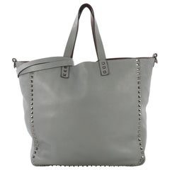 Valentino Rockstud Reversible Convertible Tote Leather North South