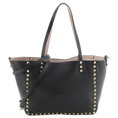 Valentino Rockstud Reversible Convertible Tote Leather Small