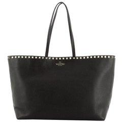 Valentino Rockstud Shopper Tote Leather Large