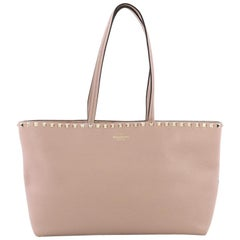 Valentino Rockstud Shopper Tote Leather Medium