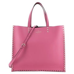 Valentino Rockstud Shopping Tote Leather Large