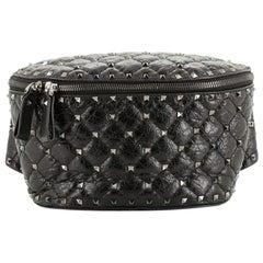 Valentino Rockstud Spike Belt Bag Quilted Leather