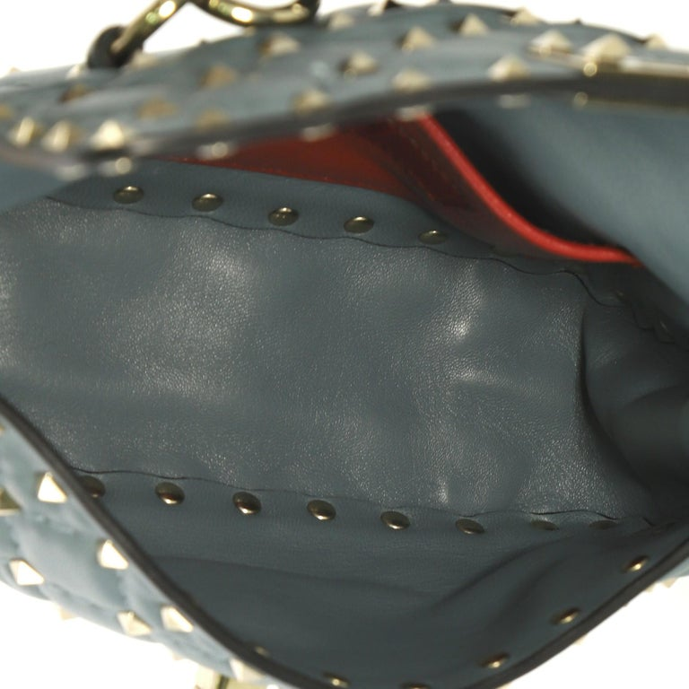 Women's Valentino Rockstud Spike Flap Bag Quilted Leather Small