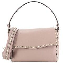 Valentino Rockstud Top Handle Bag Leather Small