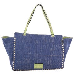 Valentino Rockstud Tote Denim Medium
